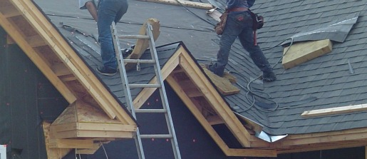 Architectural shingles going on, with closed valley (no exposed valley flashing)